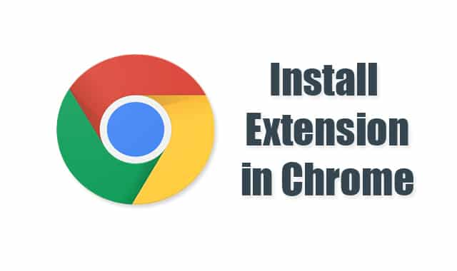 Install Chrome Extension