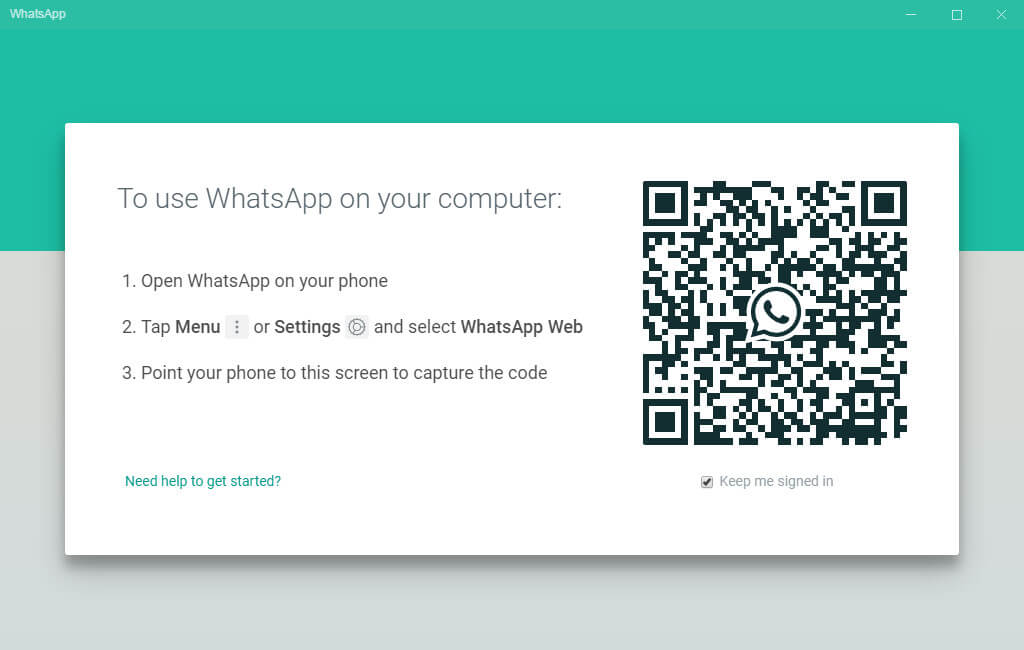 Use WhatsApp on Windows by scanning QR-Code