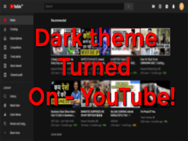 Dark Theme YouTube