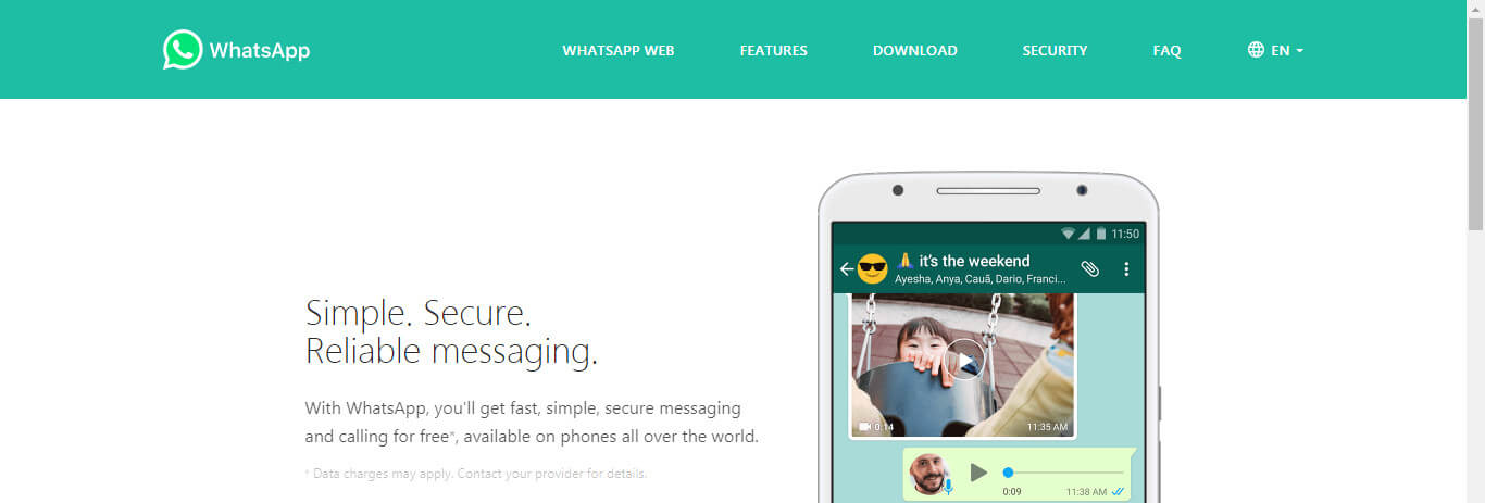 WhatsApp official site