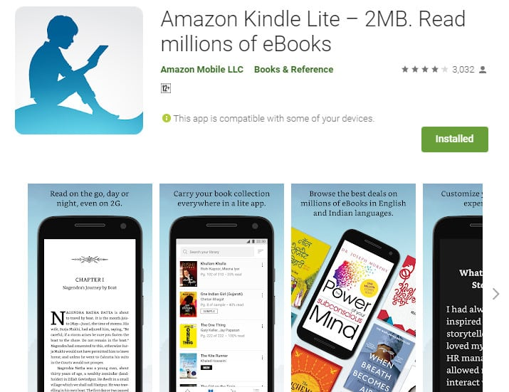 Best Lightweight Android Apps - Kindle Lite