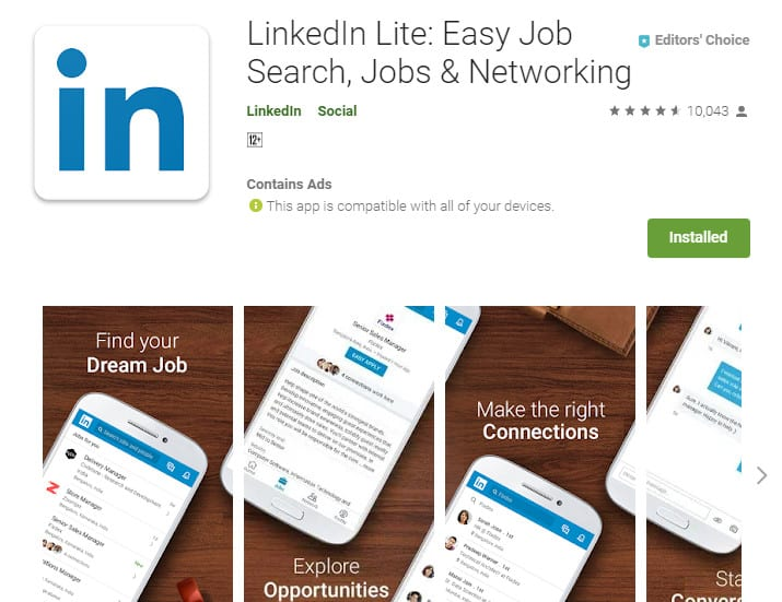 Best Lightweight Android Apps - LinkedIn Lite