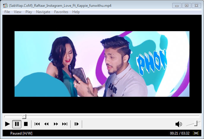The Best Media Players - MPC-HC Playing Instagram by Raftaar