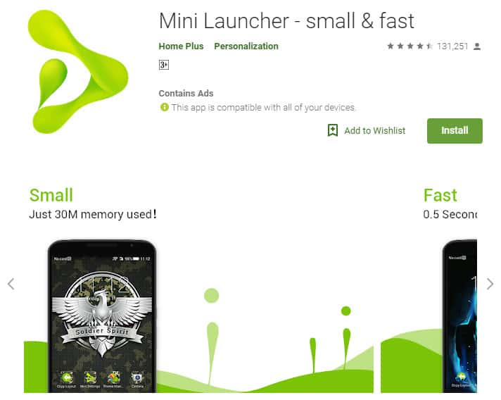 Best Lightweight Android Apps - Mini Launcher