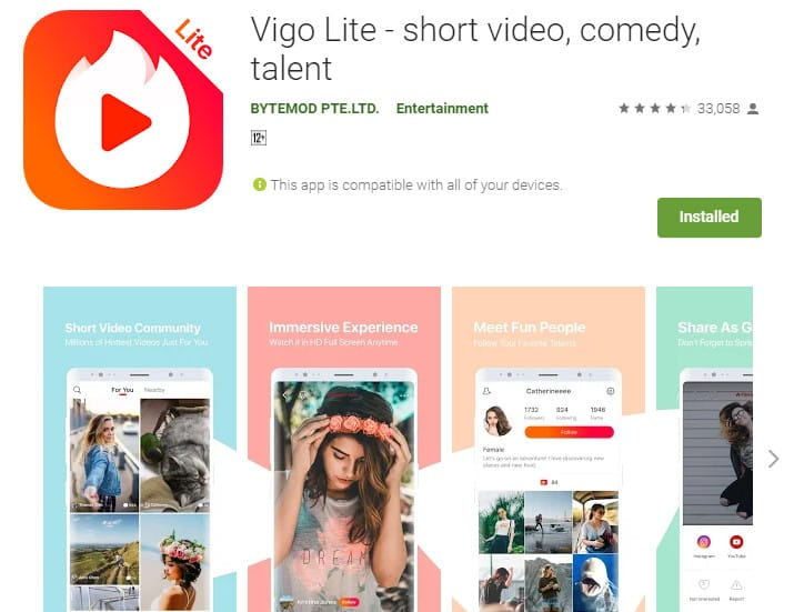 Best Lightweight Android Apps - Vigo Lite