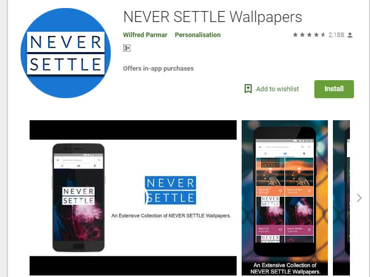 Get Never Settle Wallpapers