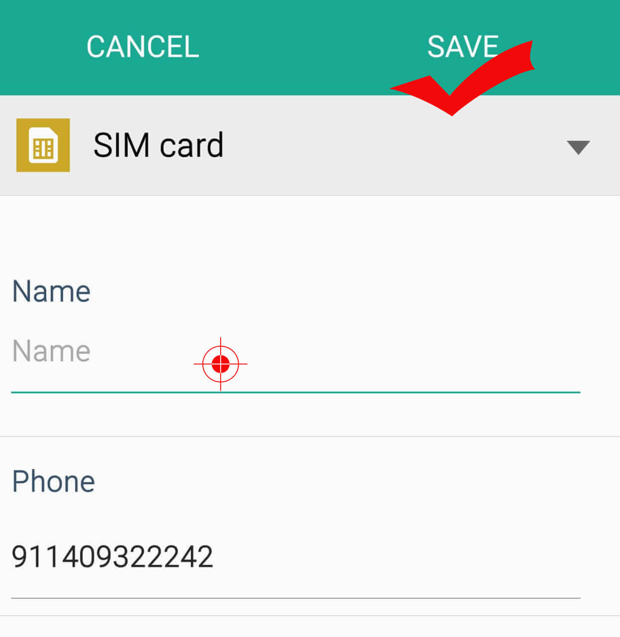 Add Contact in WhatsApp