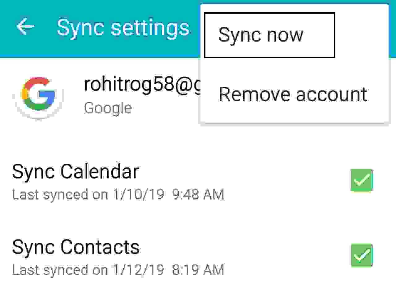 Backup and Restore Contacts
