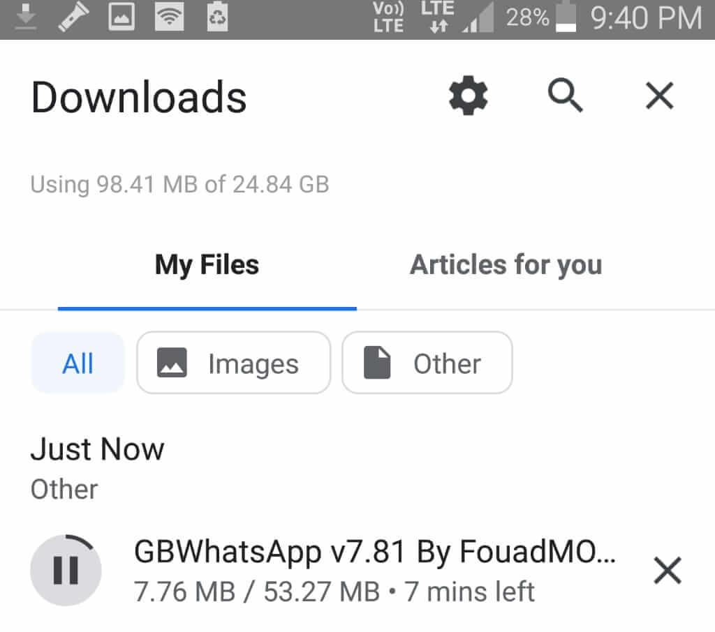 GB WhatsApp Downloading