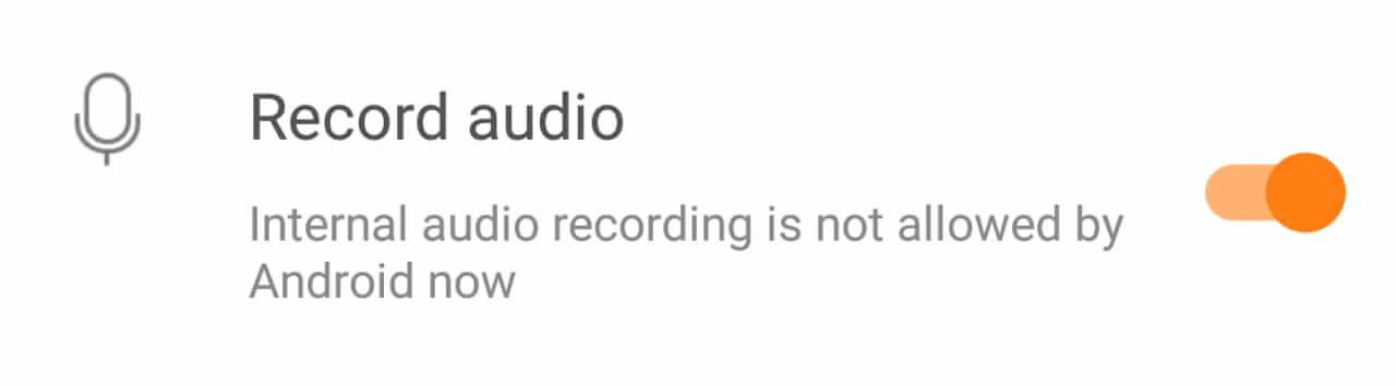 Google Doesn't Allow Internal Sound Recording