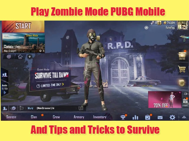 Play Zombie Mode in PUBG Mobile