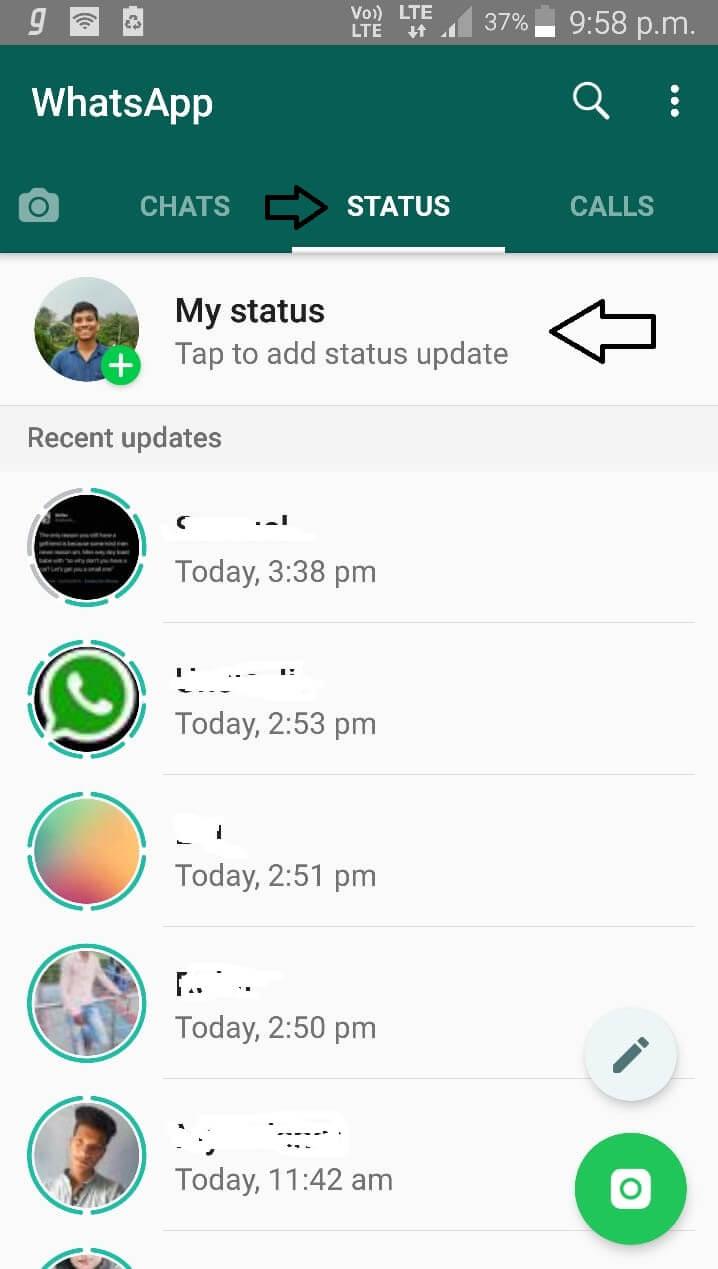 Add WhatsApp Status