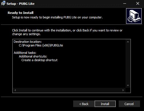 PUBG PC Lite Install