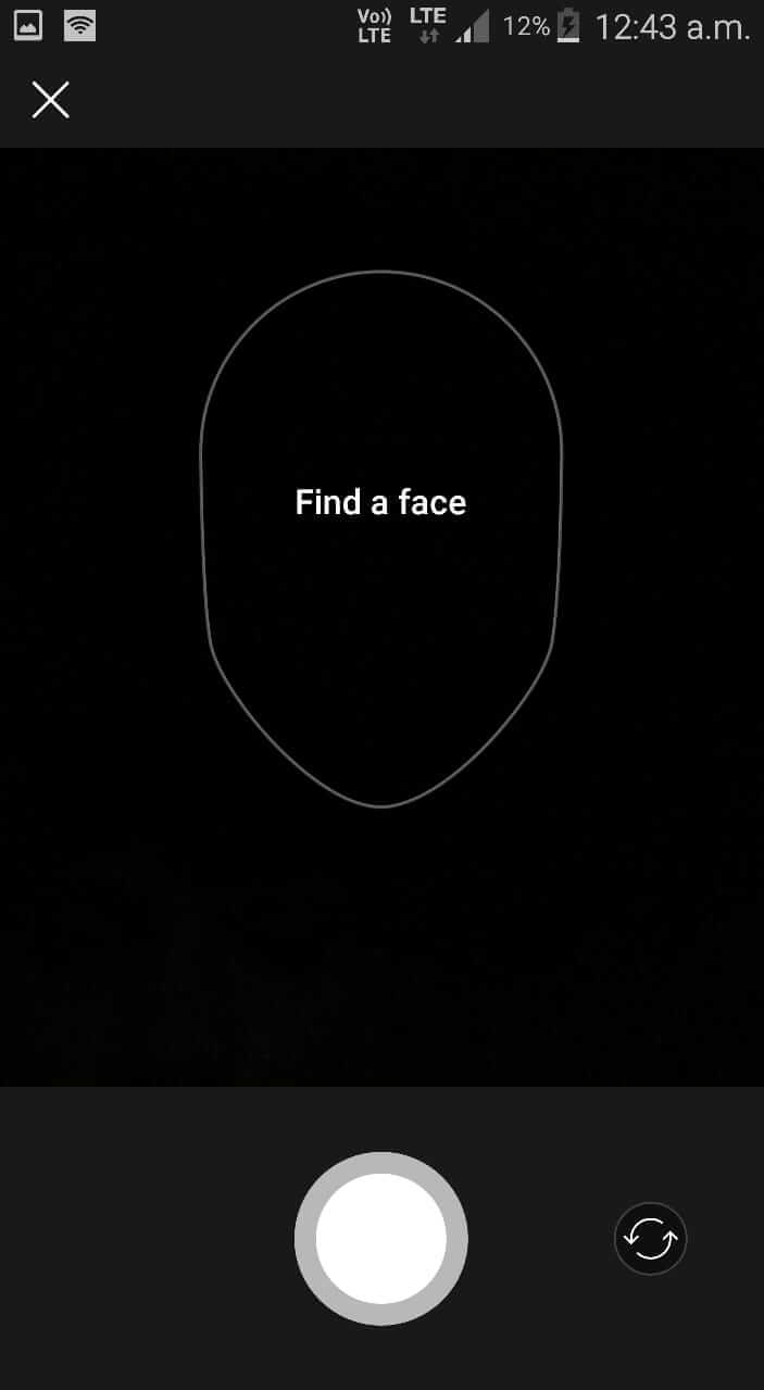 Capture a Photo in FaceApp