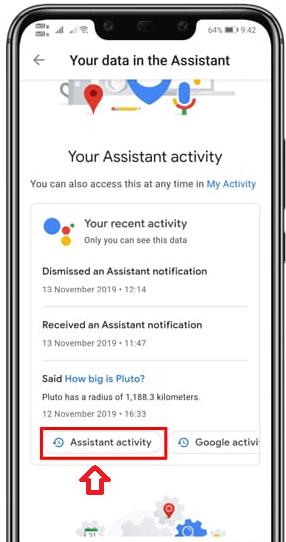 Delete Google Assistant History