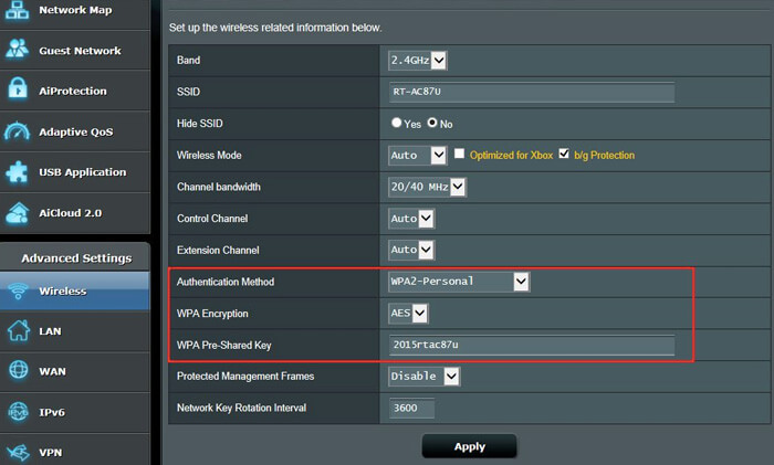 Reset Asus Router WiFi Password