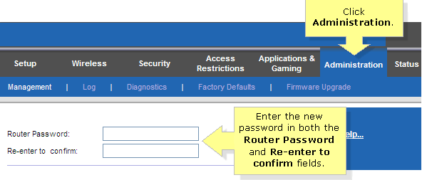 Reset Linksys Router Password