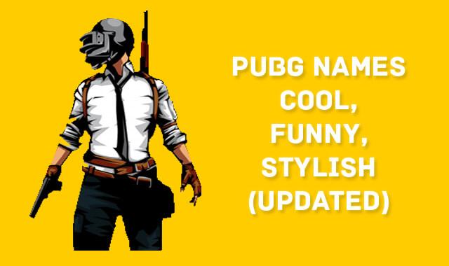 Cool PUBG Names