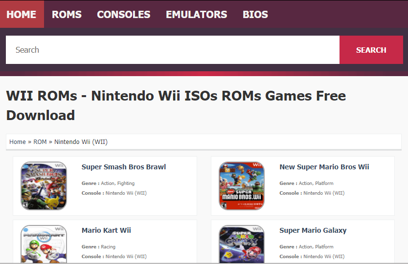 Download Nintendo Wii Games Free