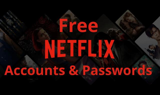 Updated Free Netflix Accounts List