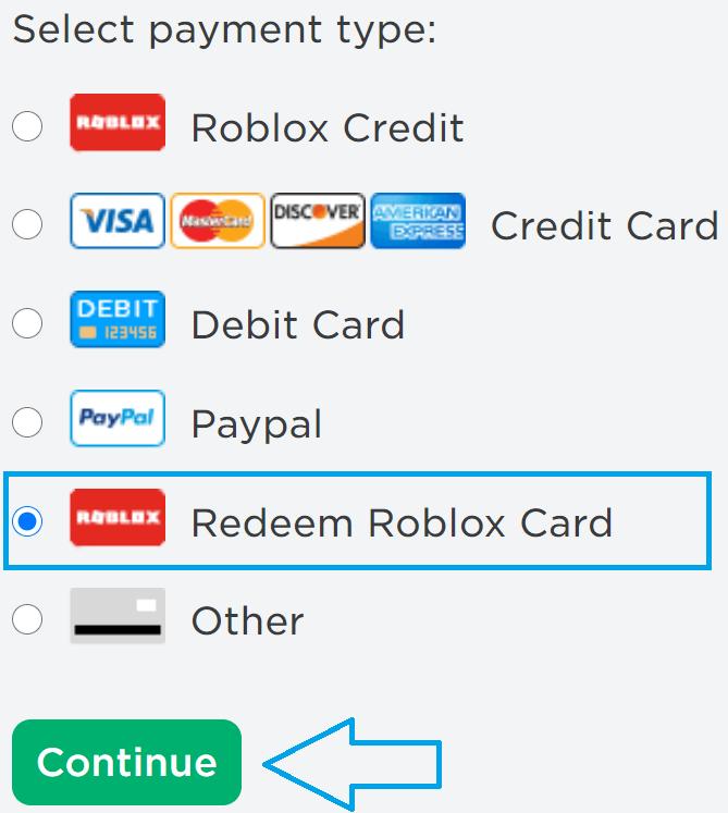 Redeem Roblox Gift Card