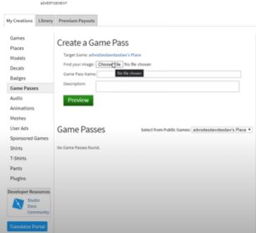 Create Game Pass
