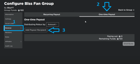Donate Robux to Group Member